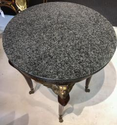Pair of Imperial Style Side Tables with Black Marble Tops - 1058462