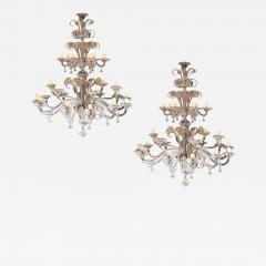 Pair of Impressive Murano Chandeliers by Seguso 1960 - 1783409