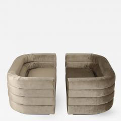 Pair of Interior Crafts Channeled Loveseats - 443665
