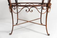 Pair of Iron Tables with Marble Tops - 351380