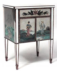 Pair of Italian 1940s Mirrored Bedside Commodes - 741153