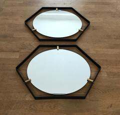 Pair of Italian 1950s Hexagonal Mirrors - 398582
