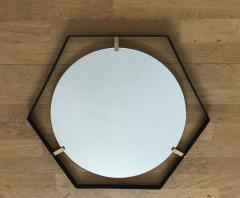 Pair of Italian 1950s Hexagonal Mirrors - 398584