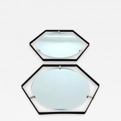 Pair of Italian 1950s Hexagonal Mirrors - 398871