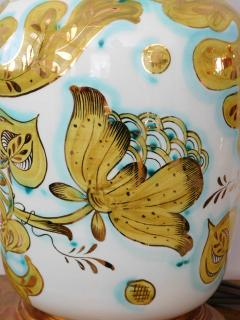 Pair of Italian 1950s Painted Porcelain Lamps for Marbro Lamp Co Los Angeles - 1974525
