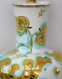 Pair of Italian 1950s Painted Porcelain Lamps for Marbro Lamp Co Los Angeles - 1974526
