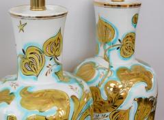 Pair of Italian 1950s Painted Porcelain Lamps for Marbro Lamp Co Los Angeles - 1974531