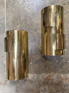 Pair of Italian 1960s Brass Sconces - 1259093
