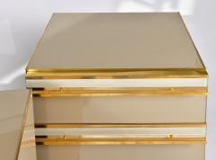 Pair of Italian 1960s caramel glass chest of drawers bedsides - 1279860