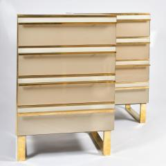 Pair of Italian 1960s caramel glass chest of drawers bedsides - 1279862