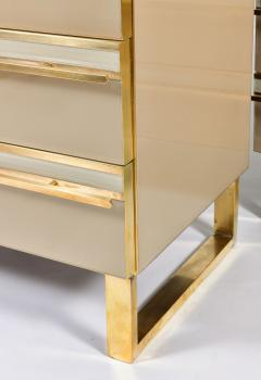 Pair of Italian 1960s caramel glass chest of drawers bedsides - 1279863