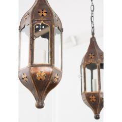 Pair of Italian 19th Century Toleware Procession Lantern Pendants - 2076244