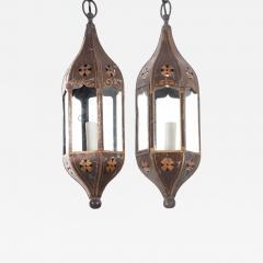 Pair of Italian 19th Century Toleware Procession Lantern Pendants - 2089336