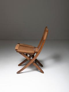 Pair of Italian 60s Folding Cord Chairs - 1198985