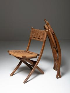 Pair of Italian 60s Folding Cord Chairs - 1198986