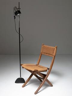 Pair of Italian 60s Folding Cord Chairs - 1198993