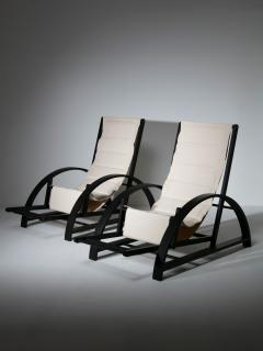 Pair of Italian 80s Deck Chairs - 1134813