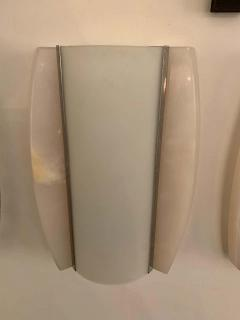 Pair of Italian Alabaster 1960s Space Age Wall Lamps - 1626080