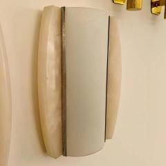 Pair of Italian Alabaster 1960s Space Age Wall Lamps - 1626084