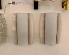 Pair of Italian Alabaster 1960s Space Age Wall Lamps - 1626085