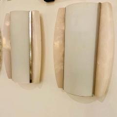 Pair of Italian Alabaster 1960s Space Age Wall Lamps - 1626086