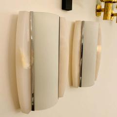 Pair of Italian Alabaster 1960s Space Age Wall Lamps - 1626088