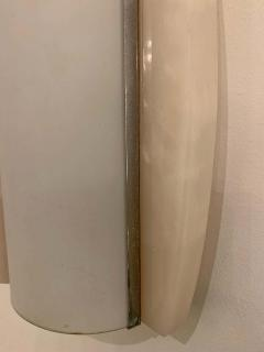 Pair of Italian Alabaster 1960s Space Age Wall Lamps - 1626089