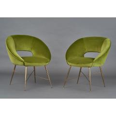 Pair of Italian Armchairs 1950s - 1259226