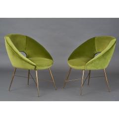 Pair of Italian Armchairs 1950s - 1259228