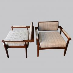 Pair of Italian Armchairs in Rosewood 1950s - 1866860