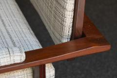 Pair of Italian Armchairs in Rosewood 1950s - 1866872