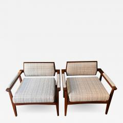 Pair of Italian Armchairs in Rosewood 1950s - 1873604