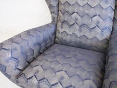 Pair of Italian Armchairs with Slim Brass Feet - 1234469