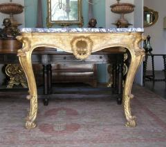 Pair of Italian Breccia Marble Top Giltwood Consoles - 442933