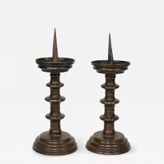 Pair of Italian Bronze Pricket Sticks 16th Century - 920981