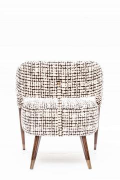 Pair of Italian Design Monique Armchair Midcentury Style - 1445712