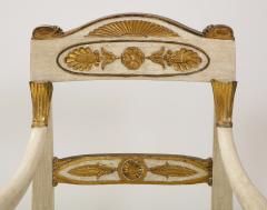 Pair of Italian Empire Chairs - 2074307