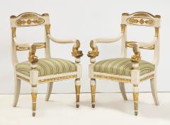 Pair of Italian Empire Chairs - 2074310