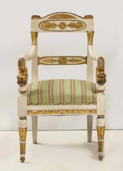 Pair of Italian Empire Chairs - 2074311