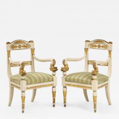 Pair of Italian Empire Chairs - 2075802