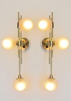 Pair of Italian Glass Wall Sconces - 1272854