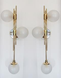 Pair of Italian Glass Wall Sconces - 1272861
