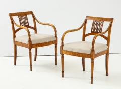 Pair of Italian Inlaid Armchairs - 1312556