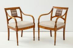Pair of Italian Inlaid Armchairs - 1312558