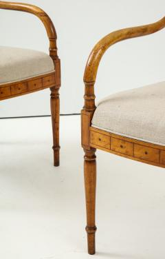 Pair of Italian Inlaid Armchairs - 1312559