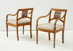 Pair of Italian Inlaid Armchairs - 1312561