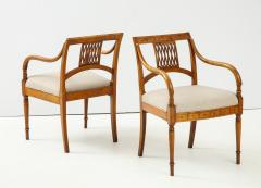 Pair of Italian Inlaid Armchairs - 1312562