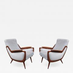 Pair of Italian Mid Century Armchairs - 1008555