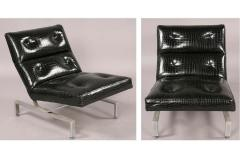 Pair of Italian Mid Century Modern Cantilevered Lounge Chairs - 1876834