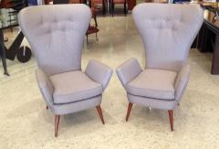 Pair of Italian Modern High Back Chairs - 157907